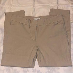NY&CO Tan Crop Pants Size 8